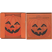 Boxed Set Six Halloween JOL Cut-Outs Dennison