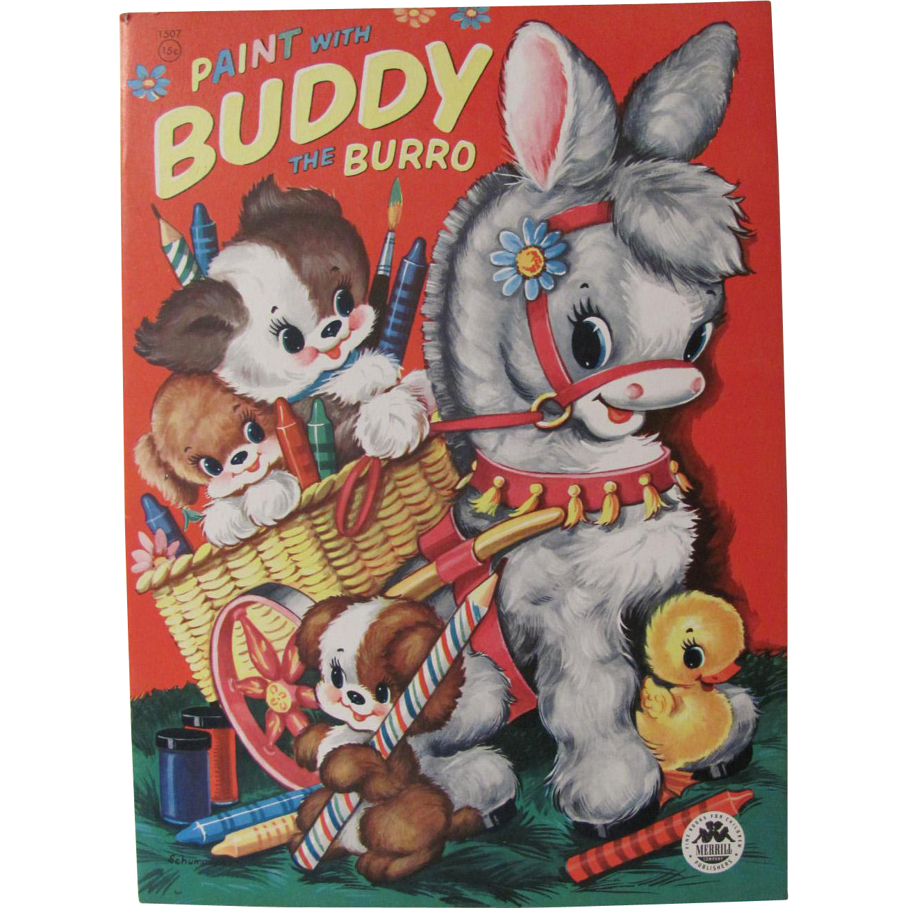 1956 Paint With Buddy the Burro Unused