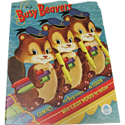 1954 Busy Beavers Coloring Book Unused