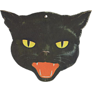 Halloween Black Cat Face Decoration