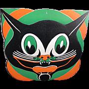 Halloween Large Embossed Deco Cat Face Die-Cut