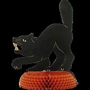 Halloween Cat Centerpiece Honeycomb Base
