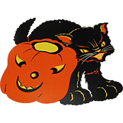 Halloween Decoration Black Cat & JOL