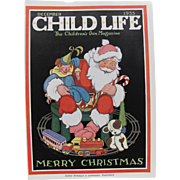 Santa Claus Train Cover Child Life Dec 1935