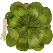 Embossed Die-Cut Good Luck 4 Leaf Clover Booklet