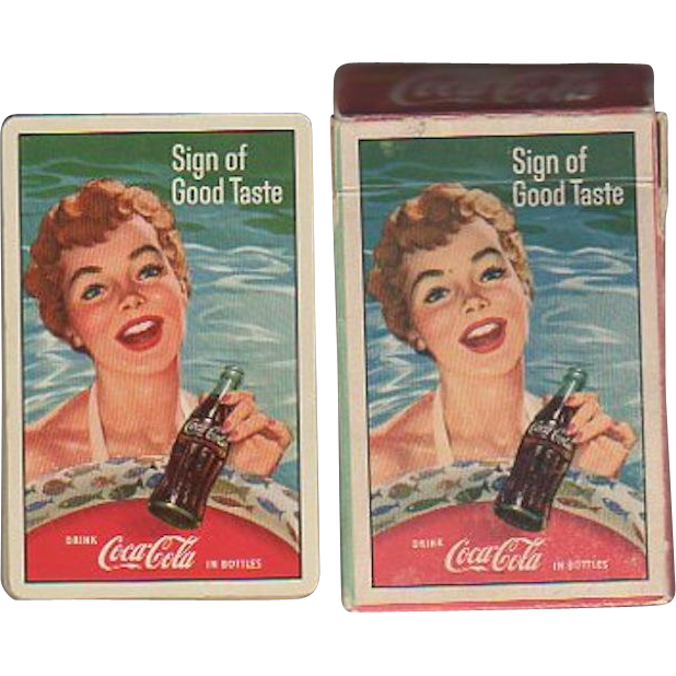 1959 Coca Cola Playing Cards Woman Swimming