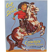 1949 Cowboy Sticker Pictures Book by Merrill