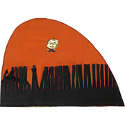 Halloween Fringed Crepe Paper Party Hat