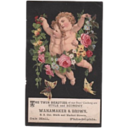 Cupids Floral Wanamaker & Brown Trade Card