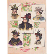 Fashion Hats Page 1896 Dec Standard Designer