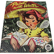 1954 Fairy Elf Mushroom Paint With Water Book Unused