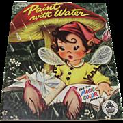 1954 Fairy Elf Mushroom Paint With Water Book Unused
