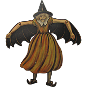 Halloween Jointed The Horrible Witch Circa Mid 1920's