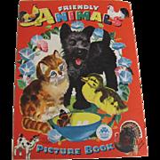 1960 Friendly Animals Children's Book