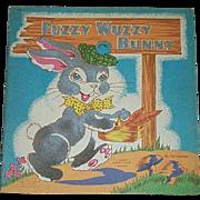 1944 Fuzzy Wuzzy Bunny Book By Whitman