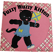 1943 Fuzzy Wuzzy Kitten Book By Whitman