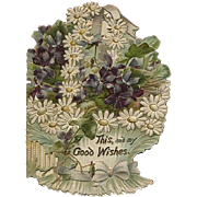 Embossed Die-Cut Victorian Good Wishes Booklet