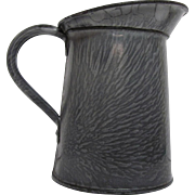 Small Grey Graniteware Pitcher 5 inch