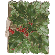 Embossed Holly Berries Booklet