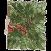Embossed Holly Berries Booklet