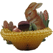 Easter Rabbit Honeycomb Basket Eggs