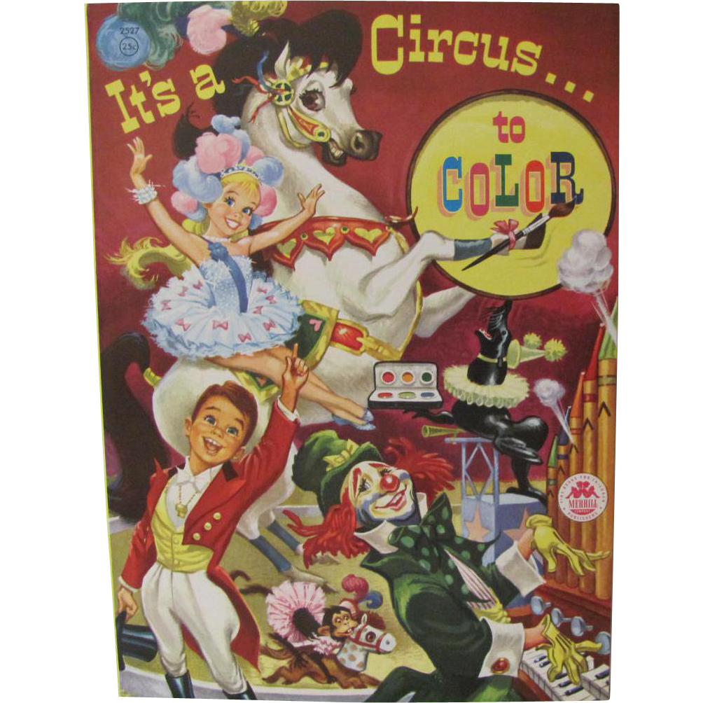 1955 It's A Circus To Color Book Unused