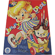 1952 Johnny Doodle & Toody Doodle Paint Book Unused