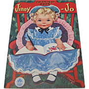 1952 Jinny-Jo Coloring Book Unused