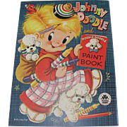 1954 Johnny Doodle & Poodle Doodle Paint Book Unused