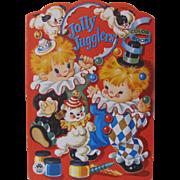 1954 Jolly Jugglers Coloring Book Unused