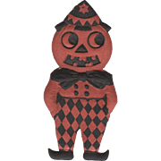 Small Heavily Embossed Halloween JOL Man DieCut Germany