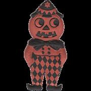 Small Heavily Embossed Halloween JOL Man DieCut Germany