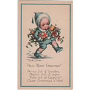 Merry Christmas Cute Boy Postcard