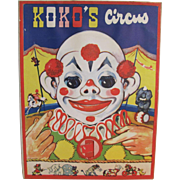1942 Koko's Circus Animated Children's Book