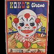 1942 Koko's Circus Animated Children's Book