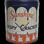 Sunshine Krispy Cracker Round Tin