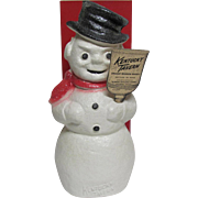 Vintage Snowman Advertising Kentucky Tavern Bourbon Whiskey W. Box