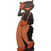 Halloween Large Black Cat Band Member Embossed Die-Cut