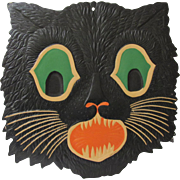 Large Embossed Halloween Cat Face Die Cut USA