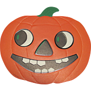 Large Embossed Halloween Smiling JOL DieCut Luhrs USA