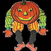 Halloween Jointed JOL Pumpkin Man/Jester Cardboard Diecut