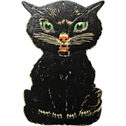 Large Seated Black Cat Halloween Die-Cut