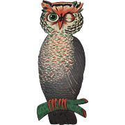 Halloween Large Winking Owl Lightly Embossed Luhrs