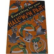 1936 Halloween Party Book Make Hats, Favors, Place Cards, Etc Complete