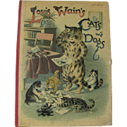 Louis Wain's Cats & Dogs Hardcover Book By Raphael Tuck