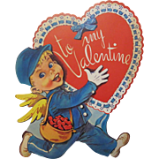 Large Mailman Holding Valentine Decoration