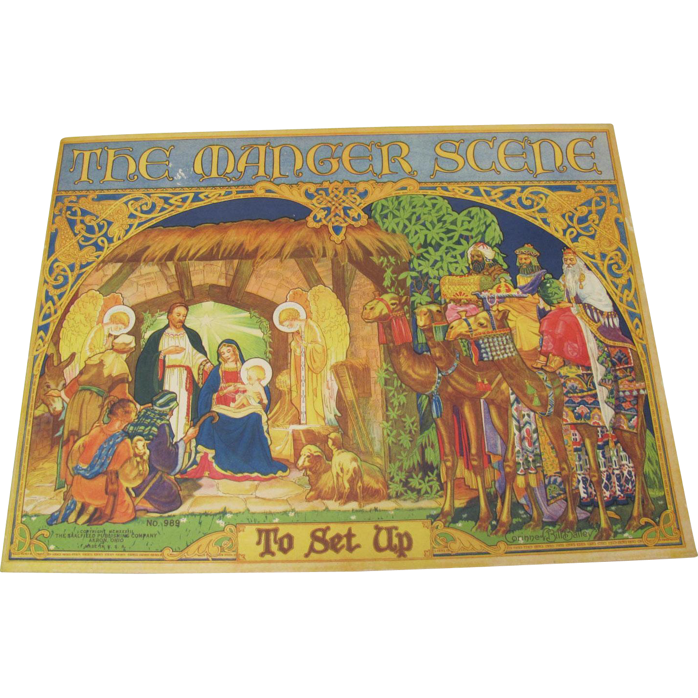 1933 The Manger Scene Punch-Outs Uncut