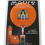Art Deco 1918 Mavis Vivaudou Talc Powder Magazine Advertisement
