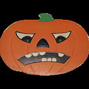 Medium Embossed Halloween Scowling JOL DieCut Luhrs USA