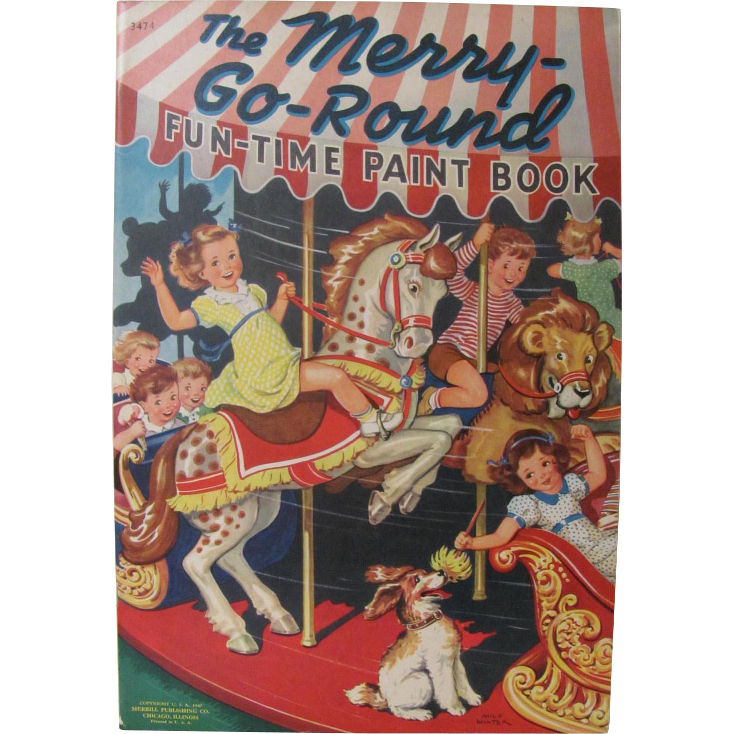 1940 The Merry Go Round Coloring Book Unused
